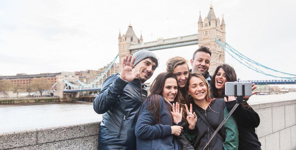 Reisegruppe in London