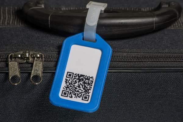 Kofferanhänger mit QR-Code