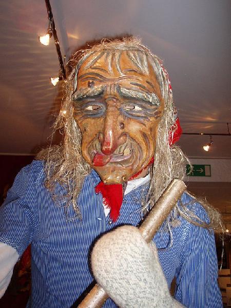 Hexenmaske zum Eggaspiel in Sonthofen