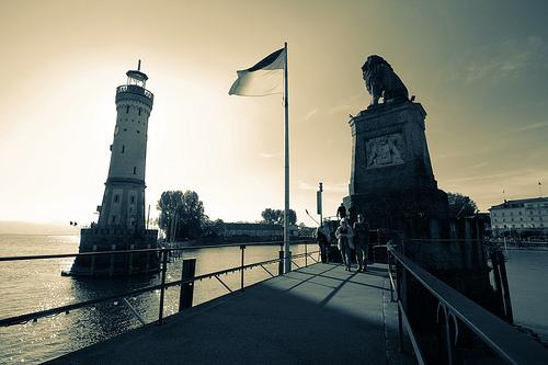 Lindau Leuchtturm Löwe