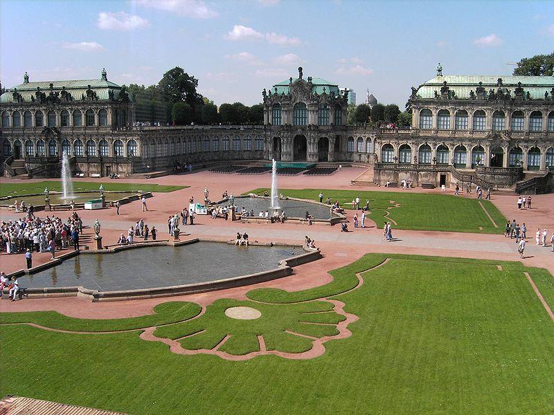 Innenhof des Dresdner Zwingers