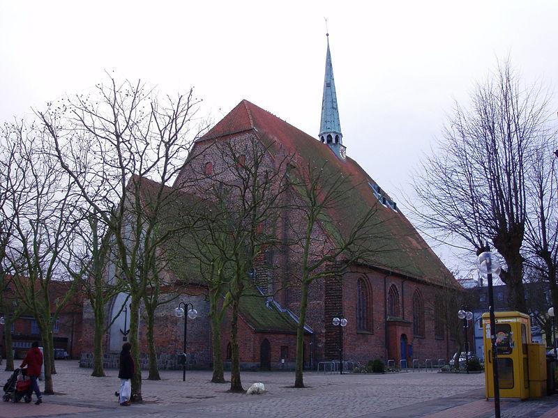 Blick auf die St. Nicolai Kirche