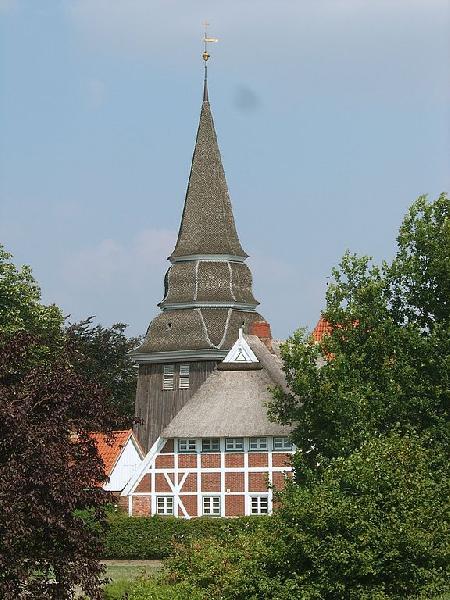 Turm der Kirche St. Johannis, Hamburg - Curslack
