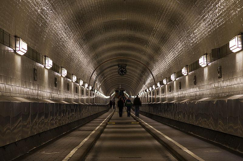 The old Elbe Tunnel in Hamburg