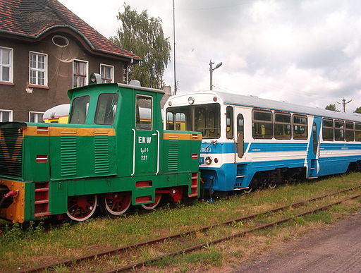 Eisenbahnmuseum in Lyck, in der Nähe von Bartossen
