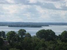 Blick vom Wasserturm, Lötzen