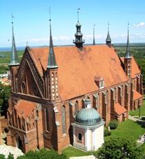 Frombork, kościół katedralny, widok z wieży artyleryjskiej