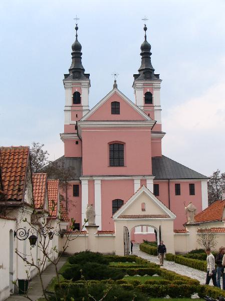 Blick auf Eremitenkloster und Kirche, Wigry