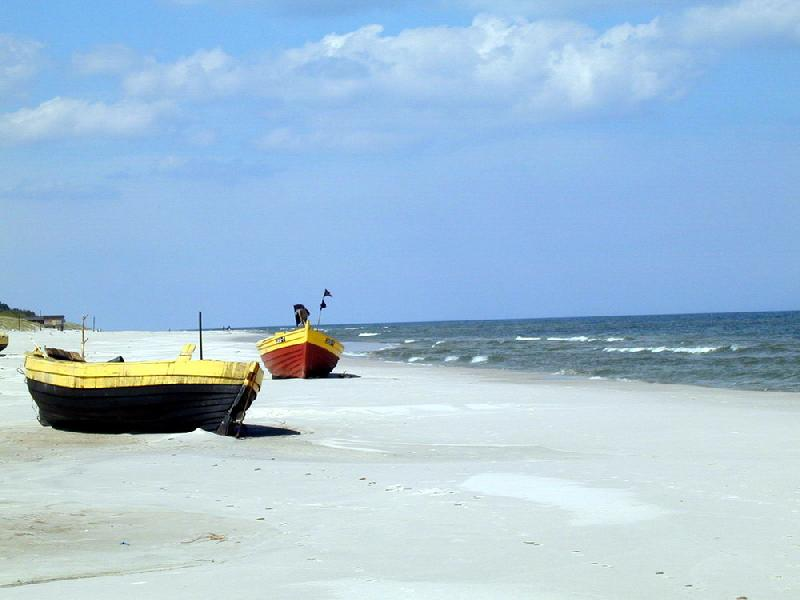 Pusta plaża - Dębki