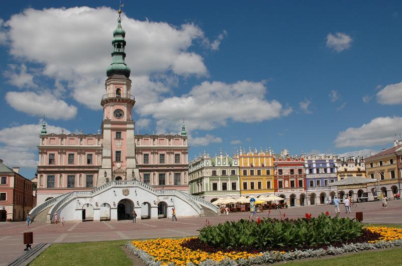 Zamość - Rathaus und Marktplatz