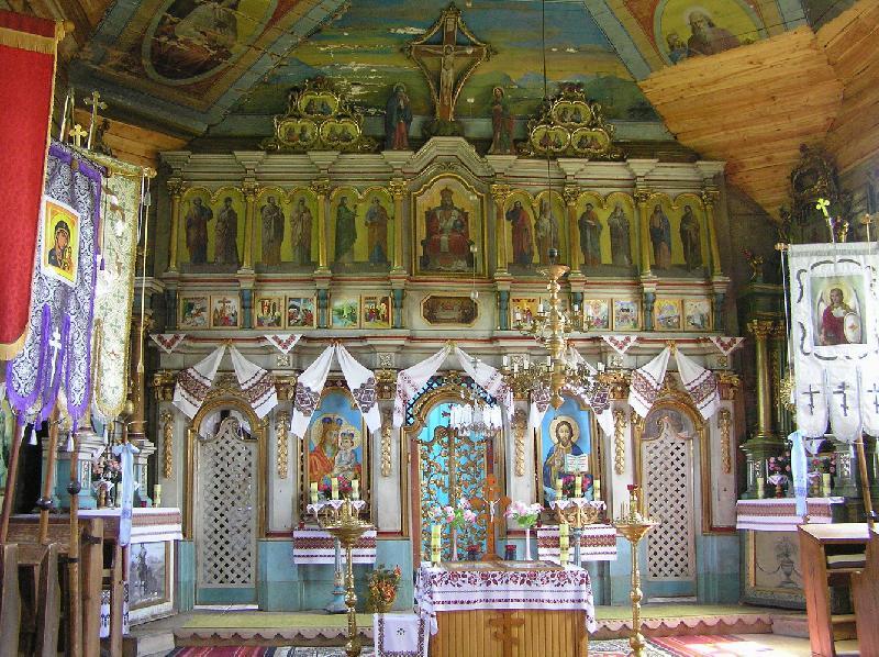 Holzkirche in Turzańsk - Ikonostase