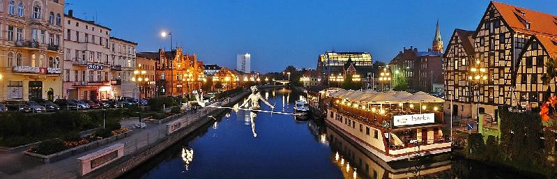 Bydgoszcz - Altstadt bei Nacht