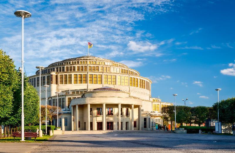 Die Jahrhunderthalle in Breslau