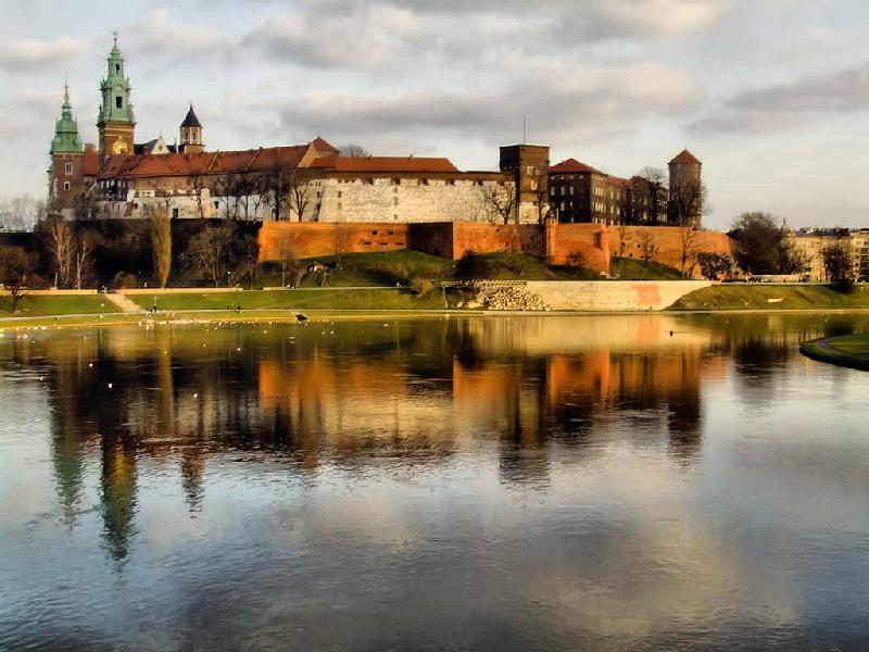 Wawel z Mostu Dębnickiego