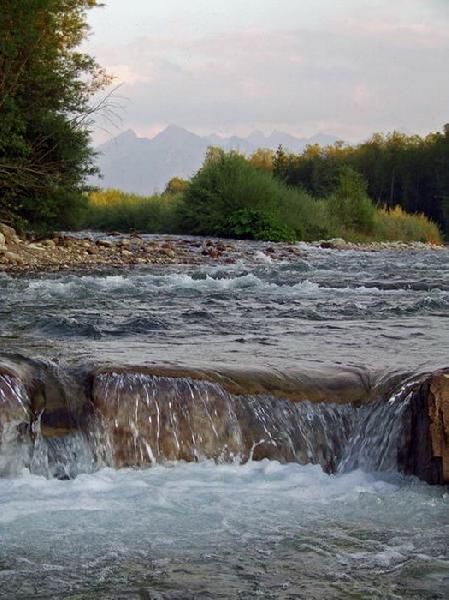 Fluss Białka in Białka Tatrzańska