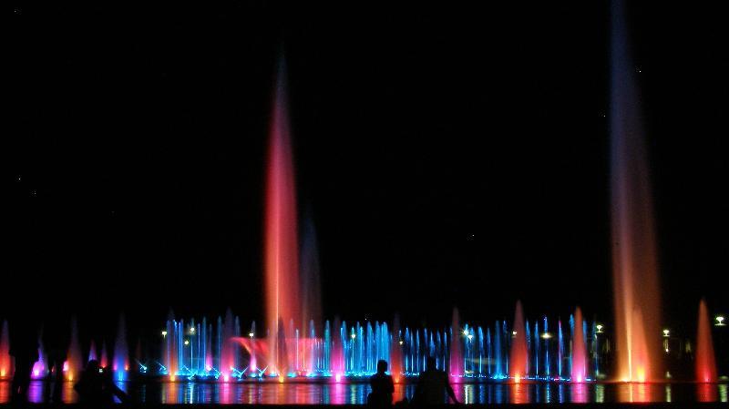 Breslau - multimedialer Springbrunnen