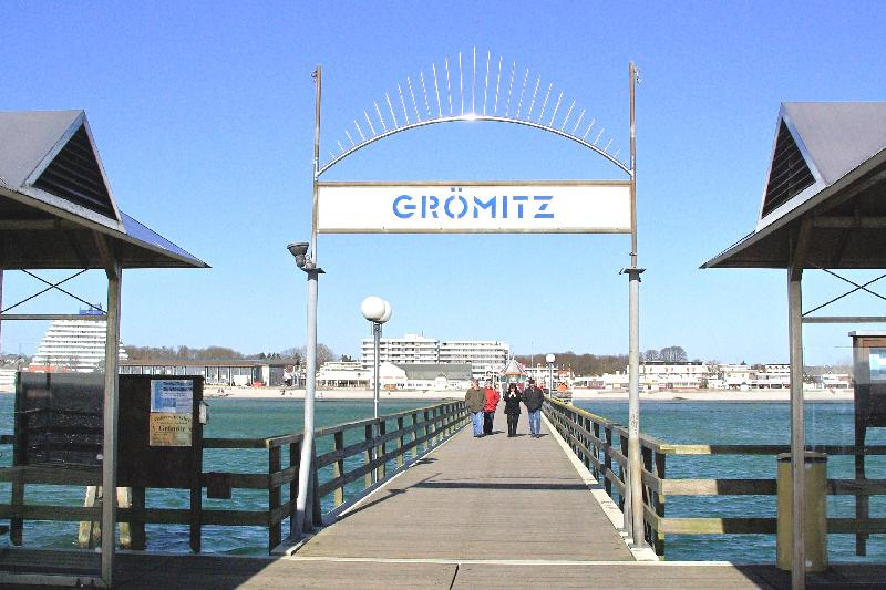 In Grömitz gibt es eine der längsten Seebrücken Deutschlands