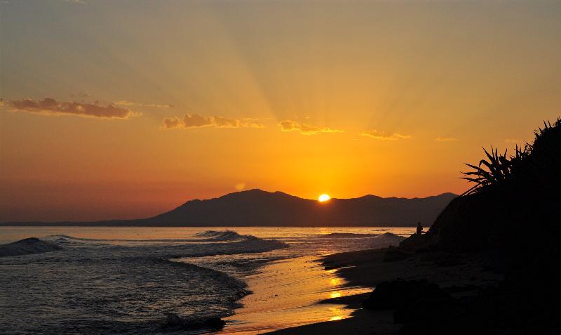 Sonnenuntergang am Strand von Marbella