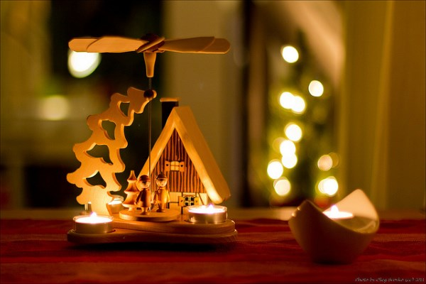Weihnachtlicher Kerzenhalter