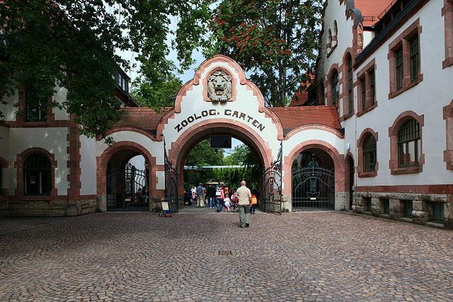 Eingang zum Leipziger Zoo