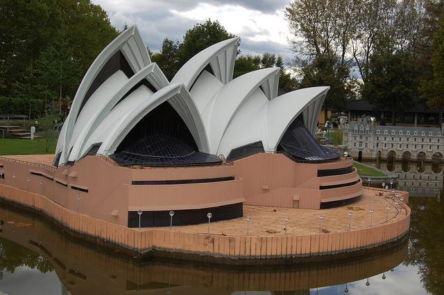Sydney Opera Haus im Minimundus in Klagenfurt