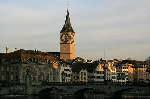 Züricher St. Peter Kirche