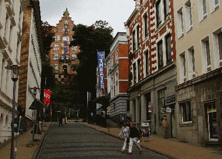 Weg zum Museumsberg in Flensburg