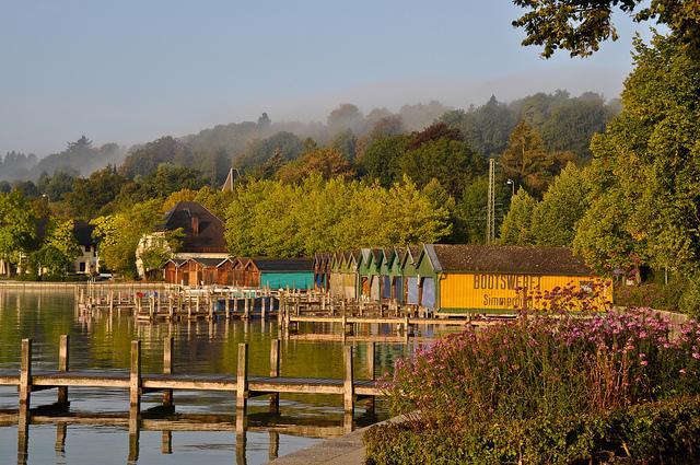 Bootshäuser am Starnberger See