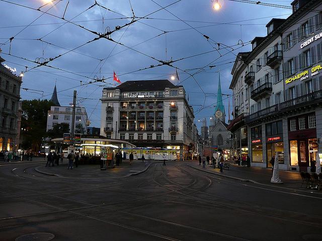 Paradeplatz in Zürich