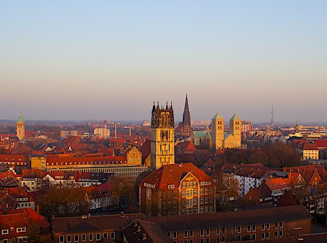 Blick über die Stadt von Münster