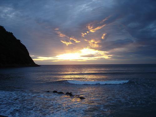 Sonnenuntergang an der Küste von Devon