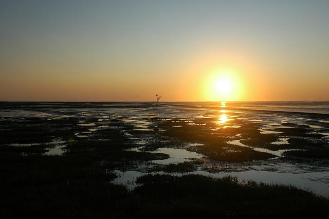 Sonnenuntergang bei Dornumersiel