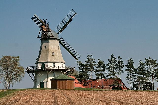 Die Holländermühle Sprengel in Neuenkirchen ist denkmalgeschützt