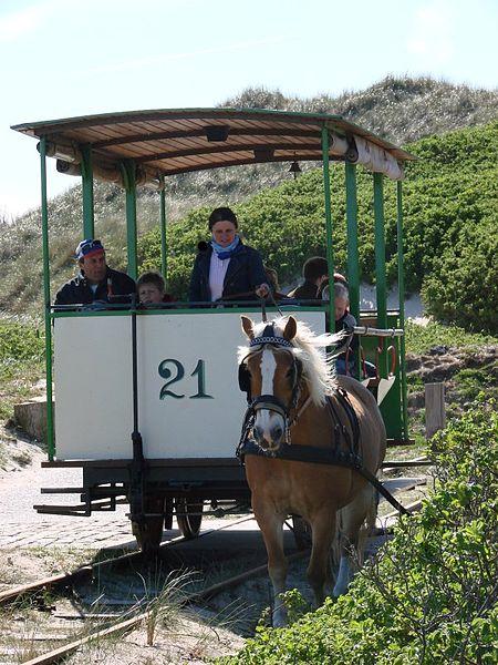 Pferdebahn auf Spiekeroog