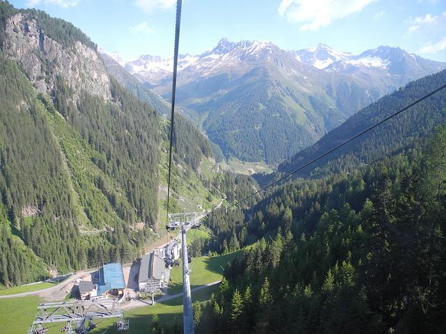 Seilbahnstation Silvrettabahn und Fimbabahn