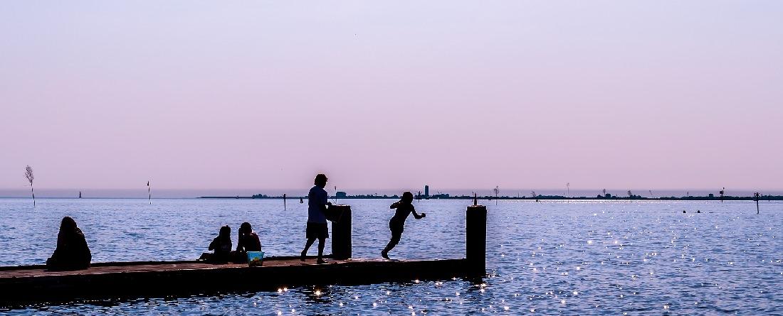 Abendliches Bild vom Husumer Hafen