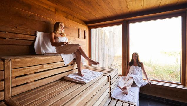 Sauna der Sylter Welle von innen