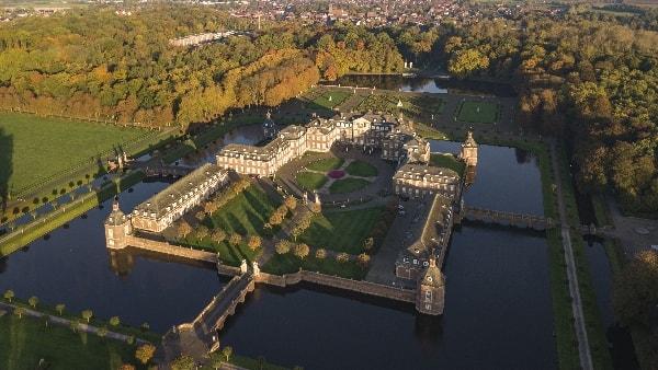 Luftansicht von Schloss Nordkirchen in Nordrhein-Westfalen