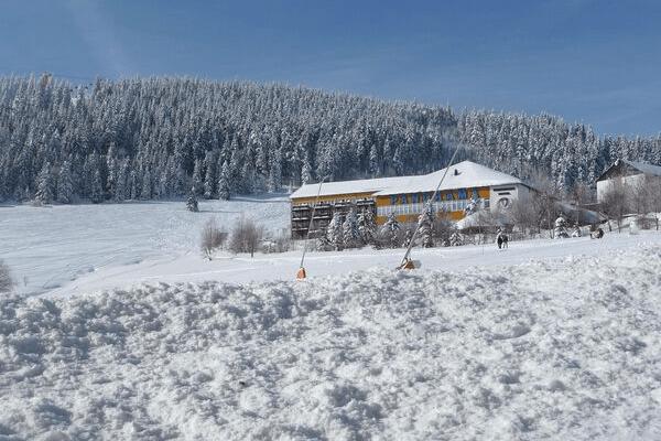Oberwiesenthal direkt an der Piste