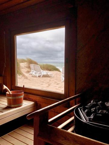 Kuschelige Sauna von innen
