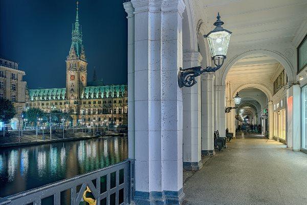 Alster Arcades in Hamburg