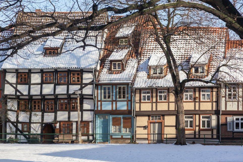 Silvester in der Altstadt von Quedlinburg