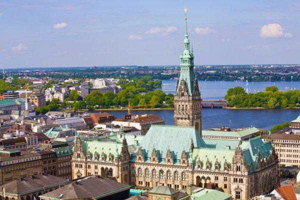 The Town Hall of Hamburg
