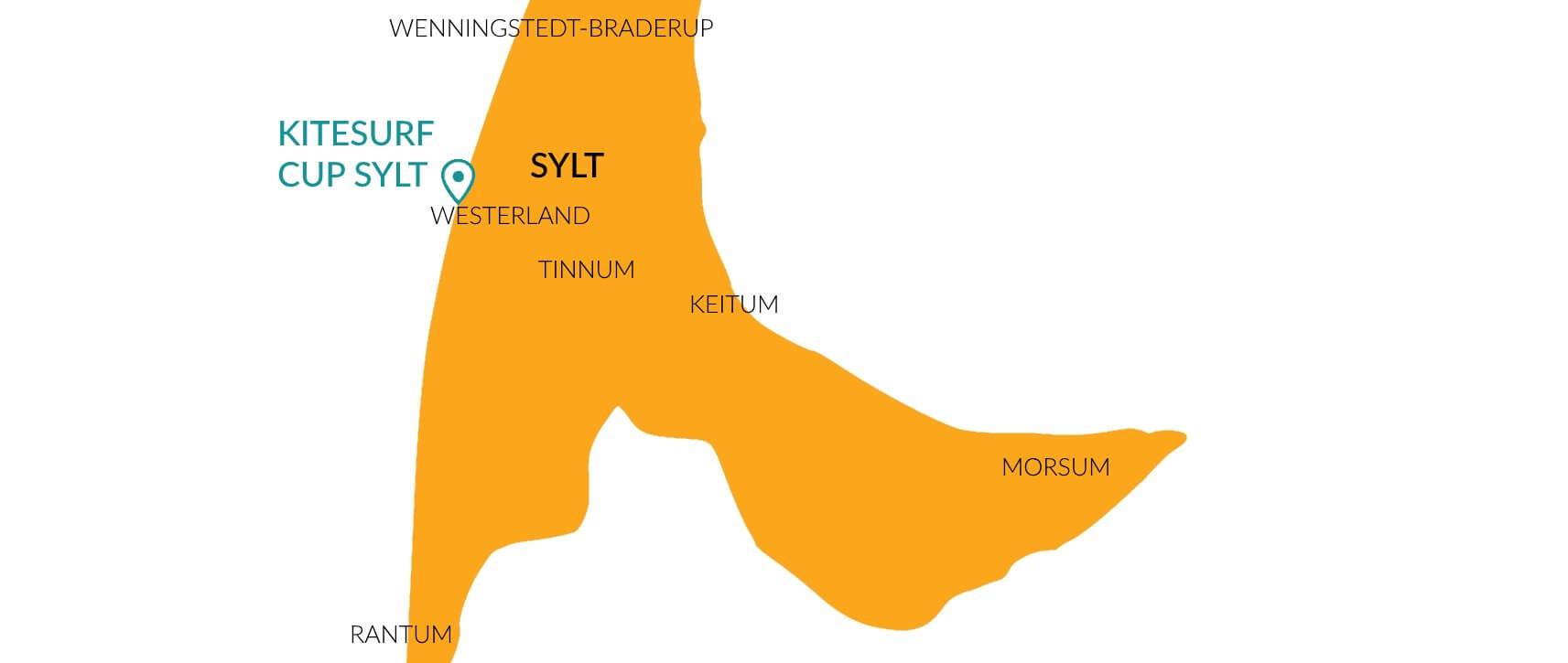 Kitesurf Cup Sylt 2018 Karte