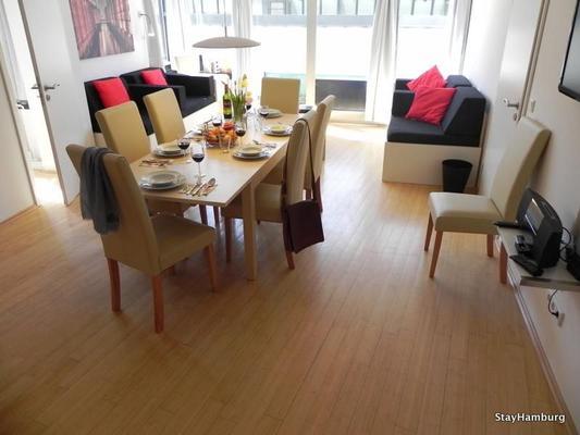 4 zimmer apartment elbkontor ii inkl w lan 109394 ferienwohnung hamburg. Black Bedroom Furniture Sets. Home Design Ideas