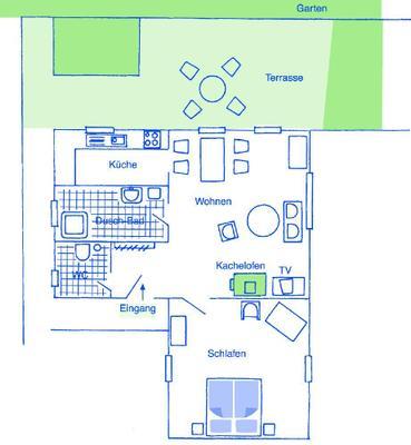ferienhaus schenk wohnung waldwiese 63518. Black Bedroom Furniture Sets. Home Design Ideas