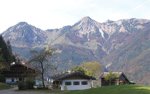 Geigelstein, gesehen von der Streichenkapelle bei Schleching