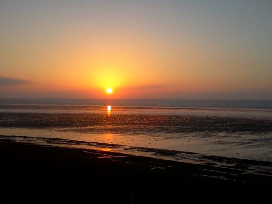 Sonnenuntergang bei Utersum