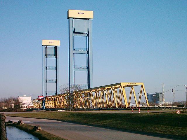 Kattwykbrücke von Moorburg zur Elbinsel Wilhelmsburg