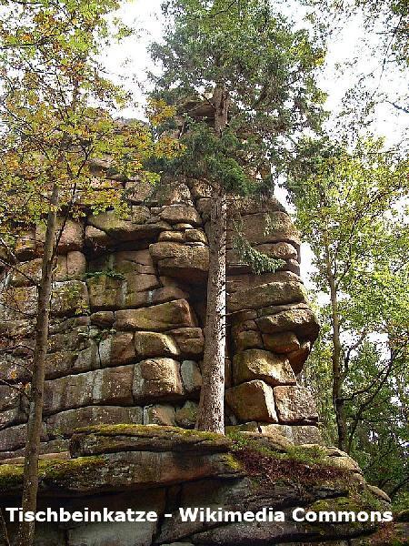 Schnarcherklippen in der Nähe von Schierke im Harz